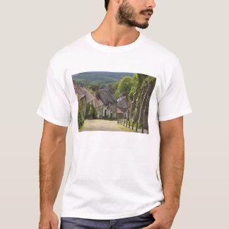 T-shirt Cottages à la colline d'or, Shaftesbury, Dorset,