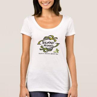 T-shirt Cou T de scoop de dames d'Adam d'île