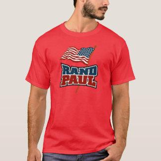 T-shirt Couche-point Paul ondulant le drapeau américain