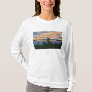 T-shirt Coucher du soleil au-dessus du lac, Adirondack Mts