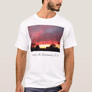 T-shirt Coucher du soleil, coucher du soleil en Livermore,
