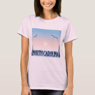 T-shirt Coucher du soleil d'aerographe de la Caroline du