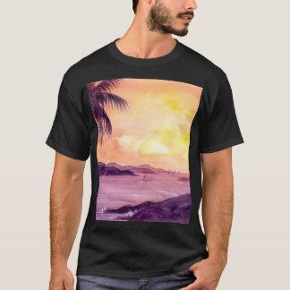 T-shirt Coucher du soleil dans les tropiques par Farida