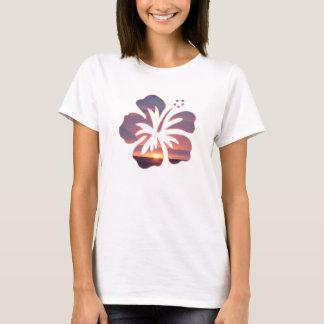 T-shirt Coucher du soleil de Kauai en fleur de ketmie