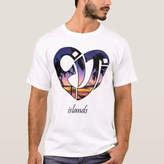 T-shirt Coucher du soleil de l'île fidji