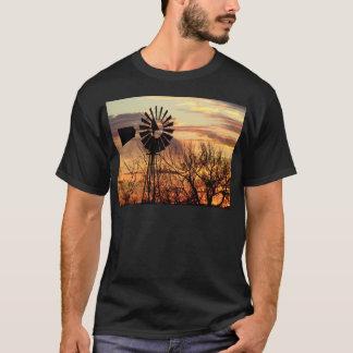 T-shirt Coucher du soleil de moulin à vent du Texas