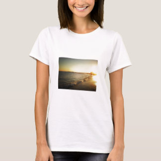 T-shirt Coucher du soleil de plage chez Coney Island,