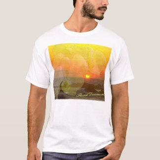 T-shirt Coucher du soleil d'orchidée