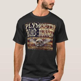 T-shirt Coucou terrestre de Plymouth contre le drapeau