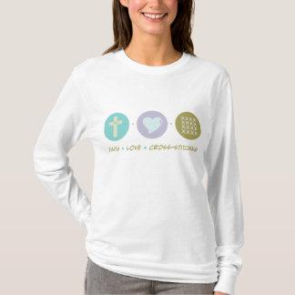 T-shirt Coudre au point de croix d'amour de foi