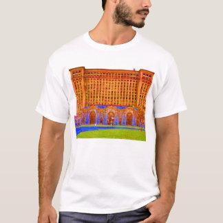 T-shirt couleur impaire de station de train de Detroit