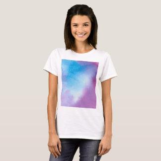 T-shirt Couleur pour aquarelle de marbre rose et bleue