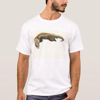 T-shirt Couleur pour aquarelle d'or sur le papier