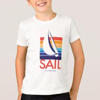 T-shirt Couleur Square_SAIL la Floride de bateau