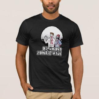 T-shirt couleurs foncées d'habillement américain de