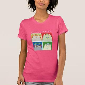 T-shirt Couleurs vibrantes chaudes de bande dessinée