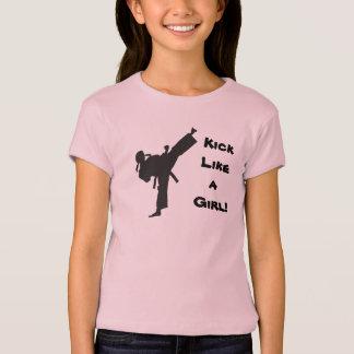 T-shirt Coup-de-pied comme un karaté du Taekwondo d'arts