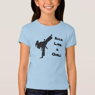 T-shirt Coup-de-pied comme une queue de cheval du