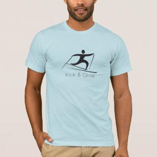T-shirt Coup-de-pied et glissement