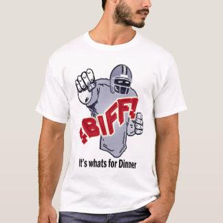 T-shirt COUP DE POING il est ce qui est pour le dîner