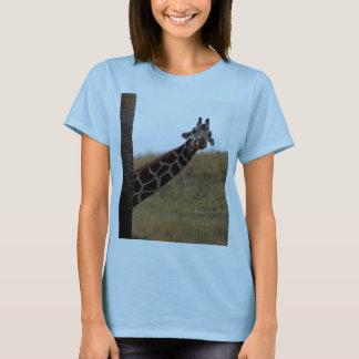 T-shirt Coup d'oeil de girafe un huer