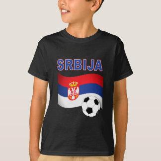 T-shirt coupe du monde du football du football de srbija