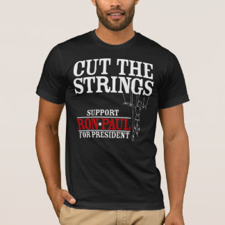 T-shirt Coupez la chemise de Ron Paul de ficelles