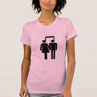 T-shirt Couples dans la chemise d'harmonie