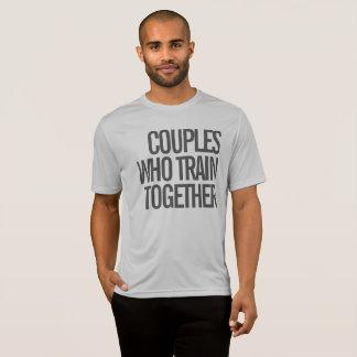 T-shirt Couples qui forment ensemble la chemise de la