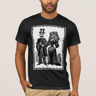 T-shirt Couples squelettiques - chemise (personnaliser)