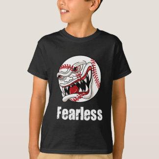T-shirt courageux de base-ball