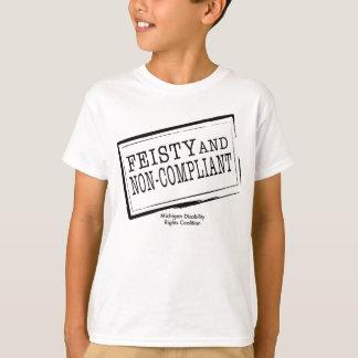 T-shirt courageux et Non-Conforme de la jeunesse
