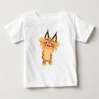 T-shirt courageux mignon de bébé de chat sauvage