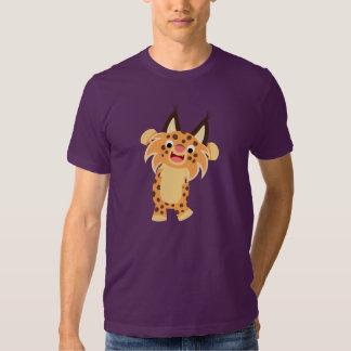 T-shirt courageux mignon de chat sauvage de bande