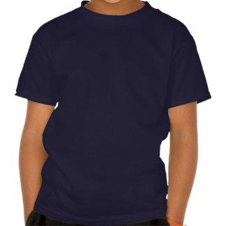 T-shirt courageux mignon d'enfants de chat sauvage