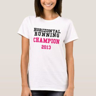 T-shirt courant horizontal de dames du champion