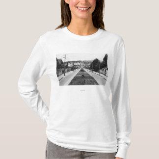 T-shirt Courbure du nord, photographie de vue de ville de