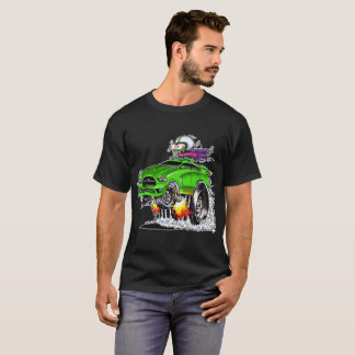 T-shirt Coureur chaud de monstre (vert)