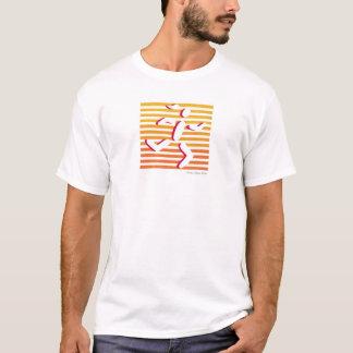T-shirt coureur femelle orange et rose