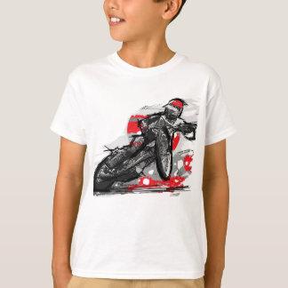 T-shirt Coureur plat de moto de voie de speed-way