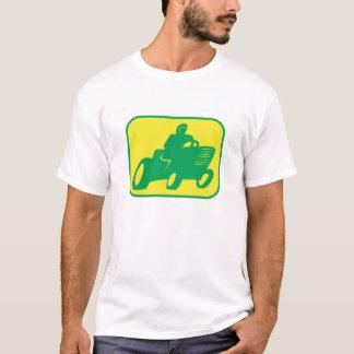 T-shirt Coureur vert et jaune de tondeuse à gazon
