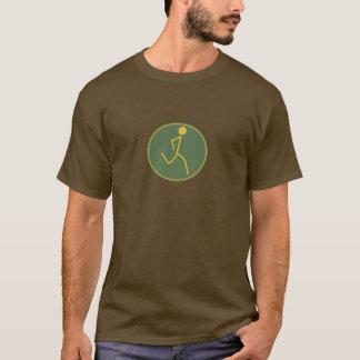 T-shirt Coureur (vert/orange)