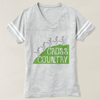 T-shirt Coureurs de pays croisé sur le © de colline
