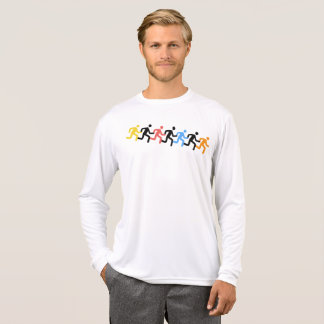T-shirt Coureurs, logo de multi-couleurs