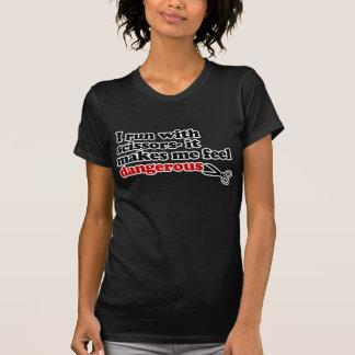 T-shirt Courez avec des ciseaux