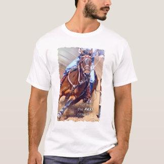 T-shirt Courez avec l'emballage rapide de baril de foule
