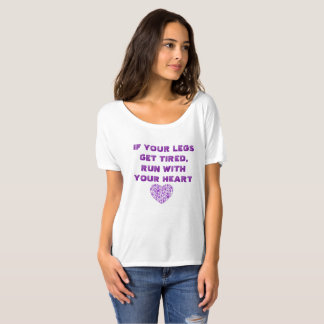 T-shirt Courez avec votre coeur