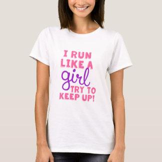 T-shirt Courez comme une fille