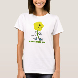 T-shirt Courez la chemise de course de fleuriste