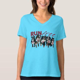 T-shirt Courez la chemise libre de v-cou de Berner